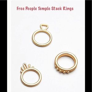 NWT Free People Stacked Rings